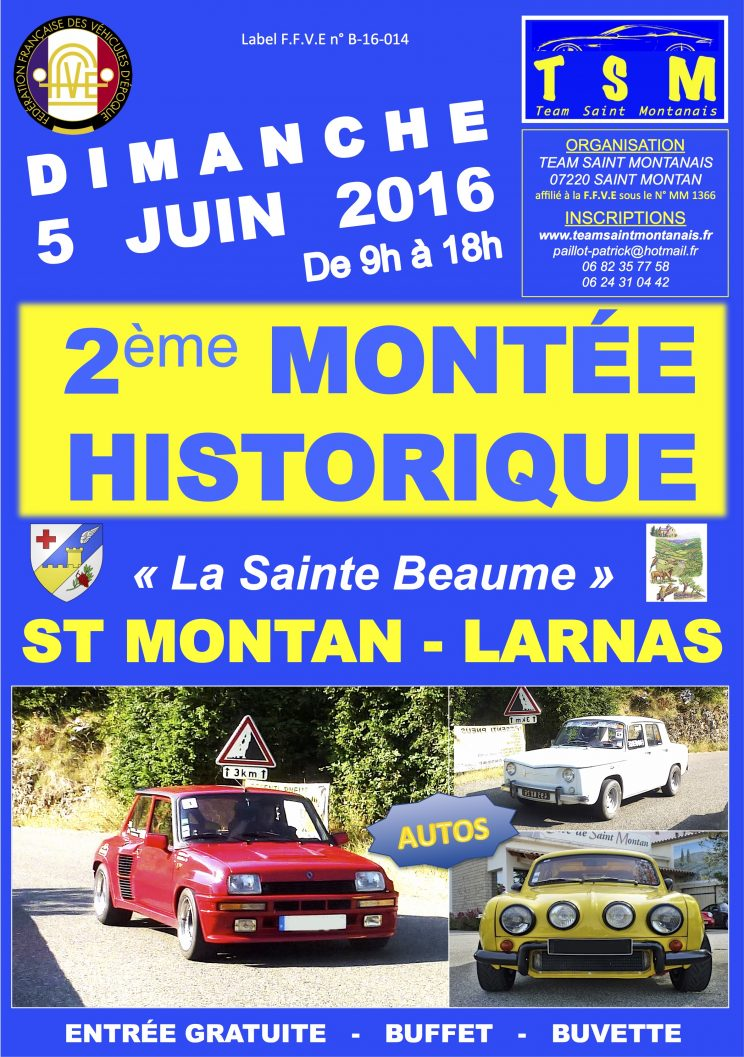 Affiche montée Sainte Beaume