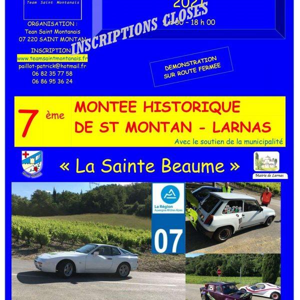7ème MONTEE HISTORIQUE  DE SAINT MONTAN - LARNAS 2021 - complet