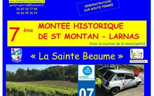 7ème MONTEE HISTORIQUE  DE SAINT MONTAN - LARNAS 2021