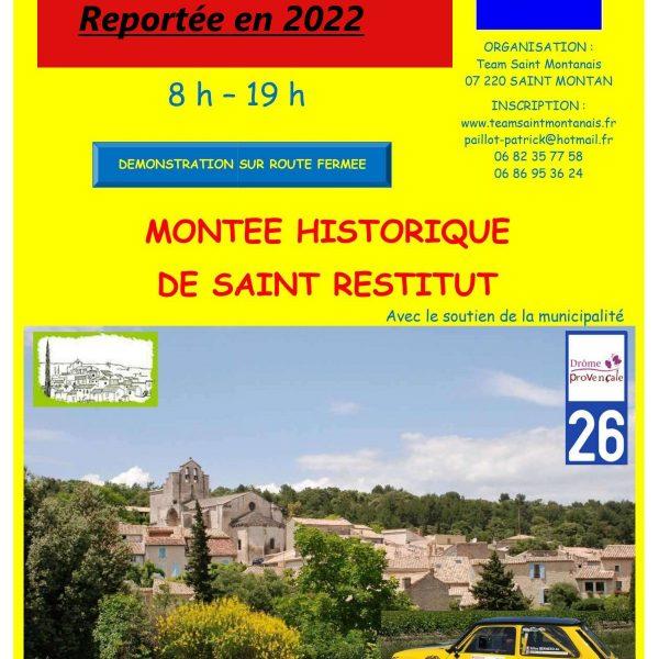 Montée historique                   St Restitut reportée en 2022
